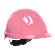 JSP Evolution 6151 Deluxe Hard Hat - Wheel Ratchet Suspension - Pink
