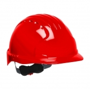 JSP Evolution 6151 Deluxe Hard Hat - Wheel Ratchet Suspension - Red