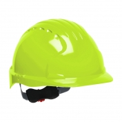 JSP Evolution 6151 Deluxe Hard Hat - Wheel Ratchet Suspension - Hi-Viz Lime