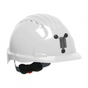 JSP Evolution 6151M Deluxe Mining Hard Hat - Wheel Ratchet Suspension - White