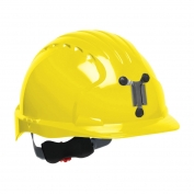 JSP Evolution 6151M Deluxe Mining Hard Hat - Wheel Ratchet Suspension - Yellow