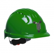 JSP Evolution 6151M Deluxe Mining Hard Hat - Wheel Ratchet Suspension - Green