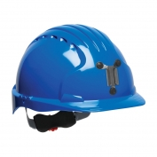 JSP Evolution 6151M Deluxe Mining Hard Hat - Wheel Ratchet Suspension - Blue