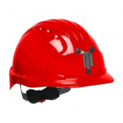 JSP Evolution 6151M Deluxe Mining Hard Hat - Wheel Ratchet Suspension - Red