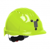 JSP Evolution 6151M Deluxe Mining Hard Hat - Wheel Ratchet Suspension - Hi-Viz Lime