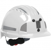JSP Evolution 6151MCR2 Deluxe Reflective Mining Hard Hat - Wheel Ratchet Suspension - White