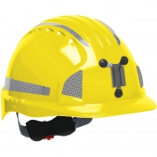 JSP Evolution 6151MCR2 Deluxe Reflective Mining Hard Hat - Wheel Ratchet Suspension - Yellow
