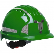 JSP Evolution 6151MCR2 Deluxe Reflective Mining Hard Hat - Wheel Ratchet Suspension - Green