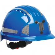 JSP Evolution 6151MCR2 Deluxe Reflective Mining Hard Hat - Wheel Ratchet Suspension - Blue