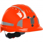 JSP Evolution 6151MCR2 Deluxe Reflective Mining Hard Hat - Wheel Ratchet Suspension - Hi-Viz Orange