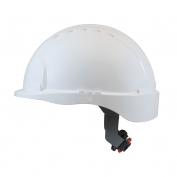 JSP Evolution 6151S Deluxe Short Brim Hard Hat - Wheel Ratchet Suspension - White