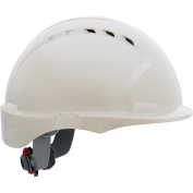 JSP Evolution 6151SV Deluxe Short Brim Vented Hard Hat - Wheel Ratchet Suspension - White