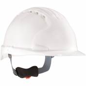 JSP Evolution 6151V Deluxe Vented Hard Hat - Wheel Ratchet Suspension - White