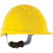 JSP Evolution 6151V Deluxe Vented Hard Hat - Wheel Ratchet Suspension - Yellow