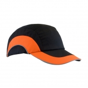 JSP ABR170 HardCap A1+ Baseball Bump Cap - Standard Brim - Black/Orange