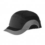 JSP ABS150 HardCap A1+ Baseball Bump Cap - Short Brim - Black/Gray