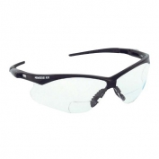 Nemesis RX Bifocal Safety Glasses - Black Frame - Clear Lens