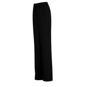 Linden Grey 2M11BK Women's Microfiber Pull-On Pants - Black