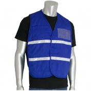 PIP 300-1504 Polyester Non-ANSI Incident Command Vest - Royal Blue