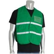 PIP 300-1505 Polyester Non-ANSI Incident Command Vest - Kelly Green