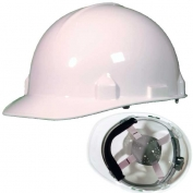 Jackson 14834 SC-6 Hard Hat - Ratchet Suspension - White