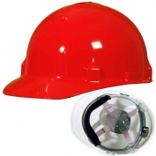 Jackson 14841 SC-6 Hard Hat - Ratchet Suspension - Red
