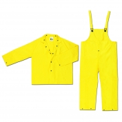 River City 3003 Wizard Series Limited Flammability 3 Piece Rain Suit - .28mm PVC/Nylon/PVC - Yellow