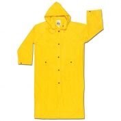 River City 300C Wizard Series Limited Flammability Knee Length Raincoat - .28mm PVC/Nylon/PVC - Yellow