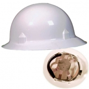 Jackson 20697 Blockhead Full Brim Hard Hat - Ratchet Suspension - White