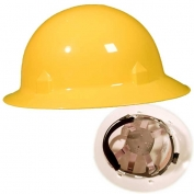 Jackson 20698 Blockhead Full Brim Hard Hat - Ratchet Suspension - Yellow