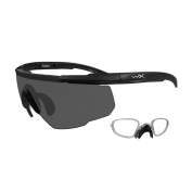Wiley X Saber Advanced Sunglasses w/ RX Insert - Matte Black Frame - Grey Lens