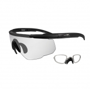 Wiley X Saber Advanced Safety Glasses w/ RX Insert - Matte Black Frame - Clear Lens