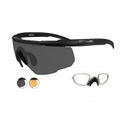 Wiley X Saber Advanced Sunglasses w/ RX Insert - Matte Black Frame - Grey & Rust Lenses
