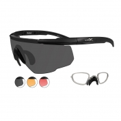 Wiley X Saber Advanced Sunglasses w/ RX Insert - Matte Black Frame - Grey, Light Rust & Vermillion Lenses