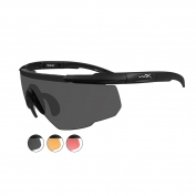 Wiley X Saber Advanced Sunglasses - Matte Black Frame - Grey, Light Rust & Vermillion Lenses