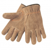 Memphis 3110 Split Cowhide Leather Drivers Gloves - Brown