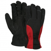 Memphis 3115 Split Cow Leather Driver Gloves - Fleece Lined Palm - Spandex Back