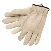 Memphis 3120 Regular Grade Split Cowhide Leather Drivers Gloves - Natural