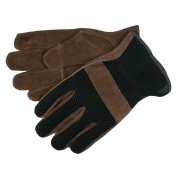 Memphis 3125 Split Cowhide Leather Driver Gloves - Mesh Back - Keystone Thumb