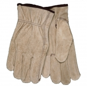 Memphis 3130 Split Cowhide Leather Driver Gloves - Unlined - Keystone Thumb