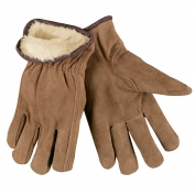 Memphis 3170 Split Cowhide Leather Driver Gloves - Acrylic Pile Lined - Keystone Thumb