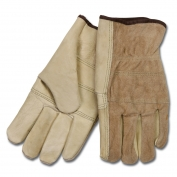 Memphis 32055 Industry Grade Grain Leather Driver Gloves - Wing Thumb - Natural
