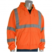 PIP 323-HSSE Class 3 Hooded Safety Sweatshirt - Orange