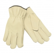 Memphis 3401 Industry Grade Grain Pigskin Drivers Gloves - Keystone Thumb - Natural