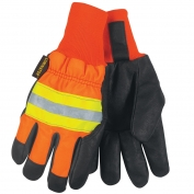 Memphis 34411 Luminator Waterproof Grain Pigskin Gloves - Thermosock Lined - Wing Thumb
