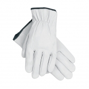 Memphis 3601 Premium Grain Goatskin Leather Driver Gloves - Straight Thumb - White