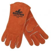 Memphis 4300 Red Ram Premium Select Shoulder Cow Leather Welder Gloves - Cotton Drill ined
