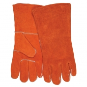 Memphis 4300B Economy Grade Shoulder Leather Welding Gloves - Wing Thumb - Russett