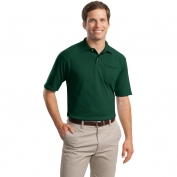 Jerzees 436MP SpotShield Jersey Knit Sport Shirt with Pocket - Forest Green