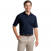 Jerzees 436MP SpotShield Jersey Knit Sport Shirt with Pocket - Navy